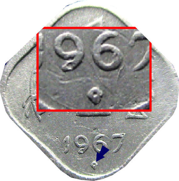 Hyderabad Mint: Dot within Diamond Below Date