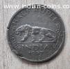 1947 - Indian Half Rupee Coin