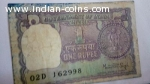 1976 Manmohan Singh 1 Rupee note for sale.
