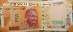 200 rs note with 786