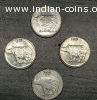 25 Paisa coin 1989, collection of 3 and one of 2002.