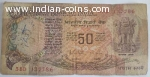Year 1985, 50 RUPEES NOTE WITH MAGIC NUMBER 786