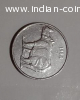 ANTIQUE VERY RARE 25 PAISE RHINO COIN HYD MINT- 190000 ONLY
