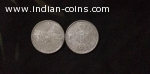 British India Old Silver Coins 1860-1920