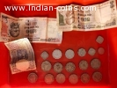 Old and rare indian coins and notes