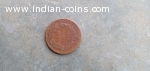 Old bronze coin of 1835