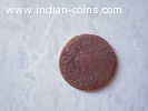 Old Indian coin of queen from 1862
