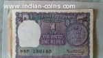 Rare Indian One Rupee and 25 Paisa