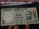 Spl edition of hundred rupee note ending with holy number