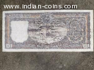 Very rare 10 rs note (1986) with serial number 786